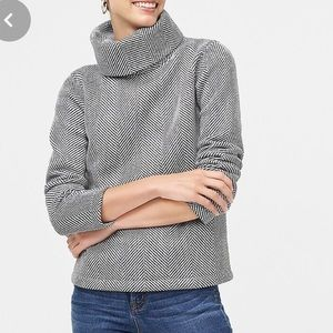 J.crew long sleeve funnel neck pullover sweater